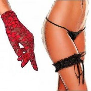 Перчатки, подвязки