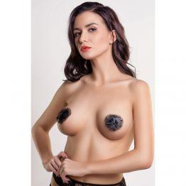 Пэстис Erolanta Lingerie Collection в форме сердец с кружевом черные
