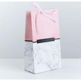 Пакет подарочный с лентой Только для тебя, 13 × 23 × 7 см