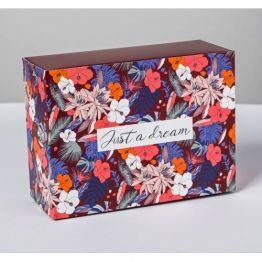 Коробка складная Цветочный сад, 20 × 15 × 8 см   4796790