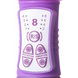 Вибратор с клиторальным стимулятором TOYFA A-Toys  High-Tech fantasy, TPE, Фиолетовый, 22,4 см