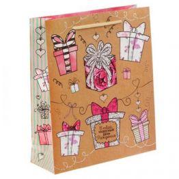 Пакет ламинат вертикальный Подарочки, 23Х27Х8 см 1717539
