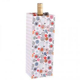 Пакет ламинированный под бутылку Абстракция, 13 х 36 х 10 см 1830888