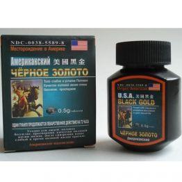 Таблетки Чёрное золото (USA Black Gold) для потенции, BlackGold