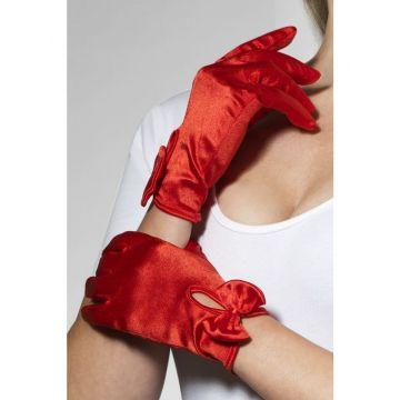 Перчатки Леди атласные (красные) (Fever) 03881OneSize