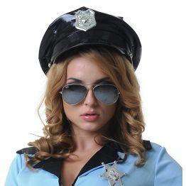 Фуражка полицейского винил 02881Onesize