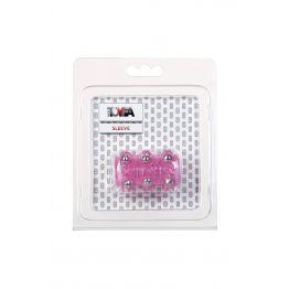 Насадка с бусинками TOYFA, TPE, розовый, 5 см