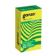 Презервативы Ganzo Ultra thin, ультратонкие, латекс, 18 см, 12 шт