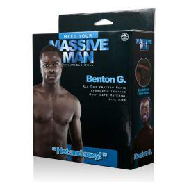 Кукла надувная NMC Massive Man, горячий и сексуальный, шоколадный мужчина с большим членом