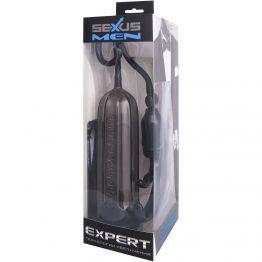 Помпа для пениса Sexus Men Expert, вакуумная, механическая, ABS пластик, чёрная, Ø6 см