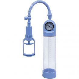 Вакуумная помпа TOYFA A-toys мощная с манометром, голубая, 20 см