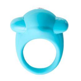 Эрекционное кольцо TOYFA A-Toys, силикон, голубое, 5,2 см