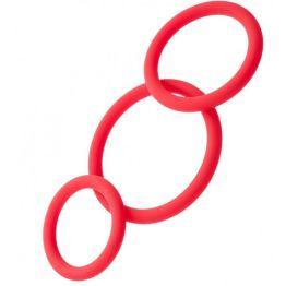 Набор эрекционных колец TOYFA Black&Red, красный