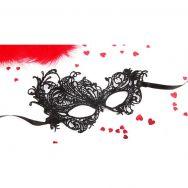 МАСКА АЖУРНАЯ МАРГО цвет чёрный, текстиль арт. EE-20352