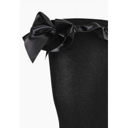 Плотные черные чулки с атласными бантами (Sense) (S/M)