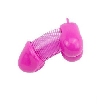 Сувенир брелок для ключей Roomfun, PVC, розовый ZB-005