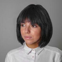 Карнавальный парик Каре, обхват головы 56-58 см, цвет чёрный, 100 г