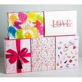 Складная коробка МИКС Для тебя, 22 × 30 × 10 см 4833084