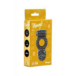 Эрекционное кольцо Rings Ringer black 0114-72Lola