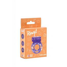 Эрекционное кольцо с вибрацией Rings Axle-pin purple 0114-81Lola