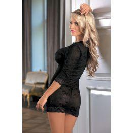 Ночная сорочка Candy Girl Ashlynn с длинным рукавом и стринги, черные, XL