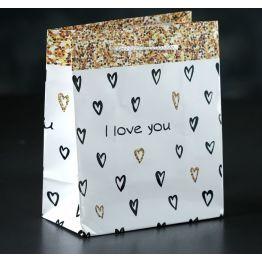 Пакет ламинированный I love you, 12 х 15 х 5 см 3821282